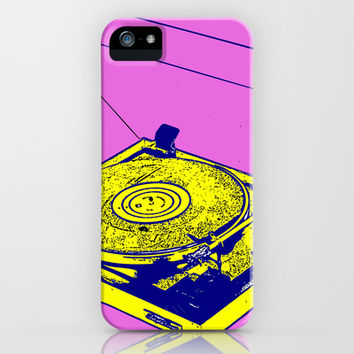 Vintage Record Player iPhone & iPod Case by lush tart