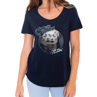 Women's Tell Me I'm Pretty Navy T Shirt - Cage The Elephant