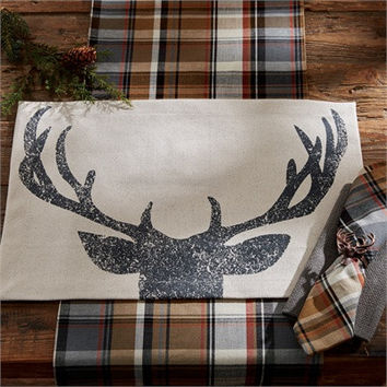 Rustic Antlers Placemat