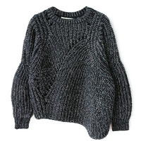 BIG KNIT GRAY SWEATER