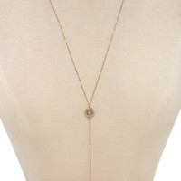 Medallion Lariat Necklace