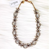 J Crew Floral Garland necklace