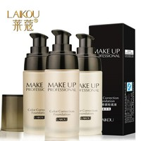LAIKOU Whitening Flawless Full Coverage Fulid Liquid Foundation Concealer Moisturizer Oil-control Waterproof Makeup Cosmetic 40g