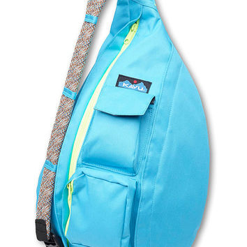 Monogrammed Kavu Rope Bags-electric blue, highlighter, black Great for girls of all ages.  Great  for Birthdays, Anniversaries, etc