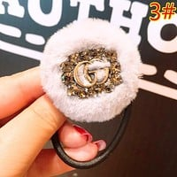 GUCCI Fashion New Letter More Diamond Women Hair Ring Hair Rope Accessories