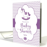 New Year Baby Shower Invitation with Rocking Horse card
