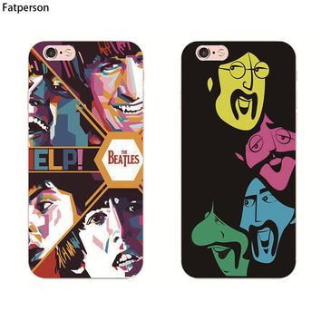 The hippie beatles band art phone case plastic cover For Apple iphone 8 7 6 Plus 5 5S SE 4 4S 6S 6plus protective shell