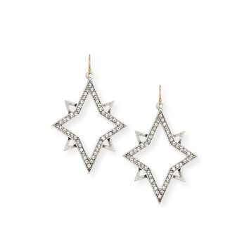 Lulu Frost Nova Crystal Star Drop Earrings