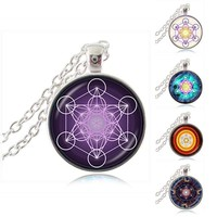 Metatron Cube Sacred Geometry Pendant Spirit Necklace