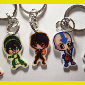 Avatar The Last Airbender Chibi Plastic Charm by IcyPanther
