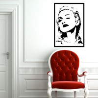 Madonna Wall Decal Framed Large 17 x 25 Inches