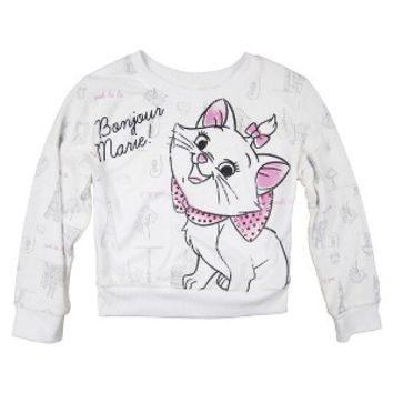 Disney® AristoCats Marie Girls Sweatshirt -  White