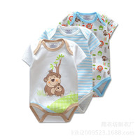 3 Pieces/lot New Summer Baby Boys Romper Animal style Short Sleeve infant rompers Jumpsuit cotton Baby Rompers Newborn Clothes