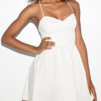 White Strappy Back Skater Dress