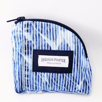 Enzyme Wash Hickory Denim Zipper Pouch
