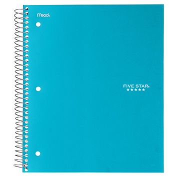 Five Star College Ruled Wirebound 5 Subject Notebook