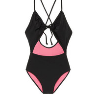 Online Exclusive Keyhole Front-Tie One-Piece - PINK - Victoria's Secret