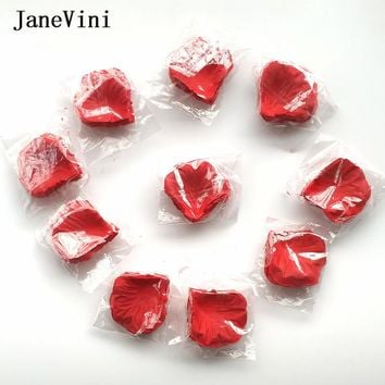 JaneVini Artificial Rose Petals 1000pcs Flower Girl Toss Silk Petal Fake Petals For Wedding Petales De Rose Party Decoration