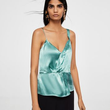 Satin top - Women | MANGO USA