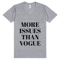 More Issues Than Vogue V-neck T-shirt (idc810025)-T-Shirt