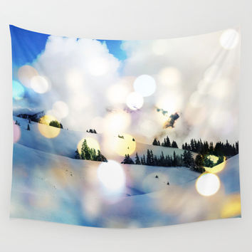Magic in The Snow #society6 Decor #home #buyart #landscape #lifestyle #fashion Wall Tapestry by 83oranges.com | Society6
