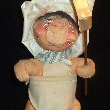 Annalee Pig Chef With Spatula Figurine