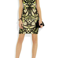 Green Printed Butterfly Dress
