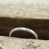 Toe Ring Silver 18g Open Full Hammered