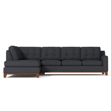 Brentwood 2pc Sleeper Sectional LAF in CHARCOAL - CLEARANCE