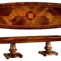 Luxury dining furniture. Exquisite marquetry and detail work.
