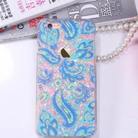 Fashion feather flower quicksand phone case for iphone 6 6s 6 plus 6s plus + Nice gift box 080902