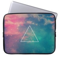 Cool Colorful Hipster Nebula Stars Galaxy Triangle Laptop Sleeves