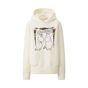 WOMEN Moomin Long Sleeve Sweat Pullover Hoodie