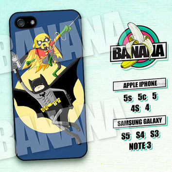 Adventure Time, Finn and Jake, Batman Robin, iPhone 5 case, iPhone 5C Case, iPhone 5S case, Phone case, iPhone 4 Case, iPhone 4S Case,  AT05