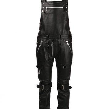 99%IS - Fitted Leather Bondage Overalls - NN05-OA01 BLACK - H. Lorenzo