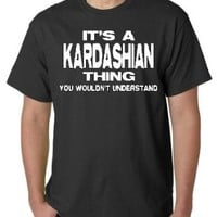 "KARDASHIAN ""THING"" BLACK TEE SHIRT"