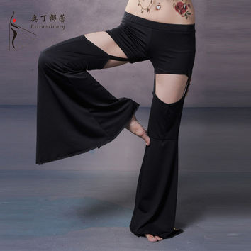Dancewear Belly Dance Pants Satin Pants Professional Belly Dance Trousers Yoga Pants Dancing For Women Tribal Pants