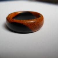 Solid African Blackwood ring, custom, handmade