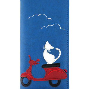 Cat on Scooter Wallet