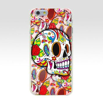 Sugar Skulls Transparent Hard Plastic Case for iPhone 5C 5 S SE 5S 6 6S 7 8 Plus Cover Phone