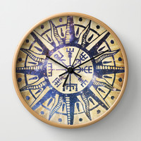 See the Way Wall Clock by Jenndalyn