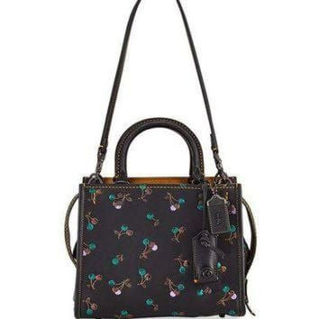 ONETOW Coach 1941 Rogue Cherries Small Tote Bag