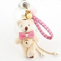 Earphone Jack Accessory Love Heart Beige Bear Pink Braided Rope Crystal Pearls / Dust Plug / Ear Jack For For Iphone 4 4S / Samsung / iPad / iPod Touch / Other 3.5mm Ear Jack