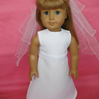 18 inch Doll Clothes, American Girl - First Communion Dress