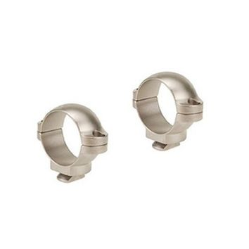 """Dual Dovetail Rings 1"""" Tube Diameter, Low Height, Silver"""