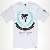 Blvd Shield Mens T-Shirt White  In Sizes