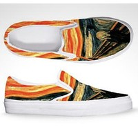 The scream Flat Slip-on Shoes - As Is