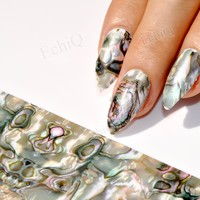 Holographic Nail Sticker Gradient Marble Pattern Nail Art Foil For Nails Manicure Tools Beauty Must 100CM GL43