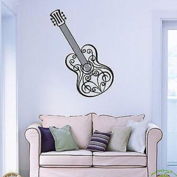 Wall Stickers Vinyl Decal Music Guitar Musical Instrument Unique Gift z1148