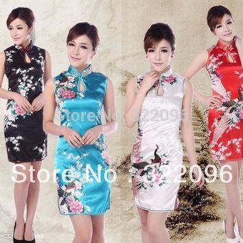 Shanghai Story short cheongsam 2017 chinese style dress traditional chinese dress wedding dress cheongsam dress 4 color